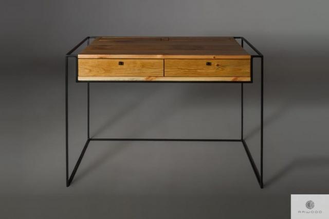 Industrielle Schreibtisch aus altem Massivholz ins Buro finden Sie uns auf https://www.facebook.com/RaWoodpl/