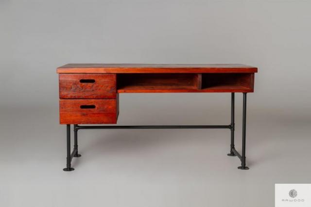 Mahagoni Schreibtisch aus Massivholz ins Zimmer Buro DENAR  finden uns auf https://www.facebook.com/RaWoodpl/