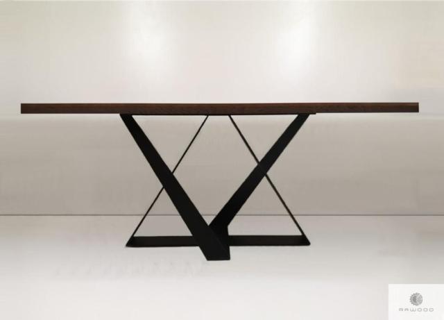 Tisch aus Eichenholz auf Metallgestell ins Esszimmer BORNEO finden Sie uns auf https://www.facebook.com/RaWoodpl/