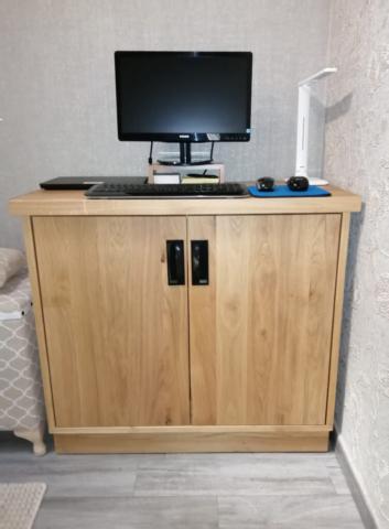 Eiche Kommode mit Regale aus Massivholz ins Wohnzimmer WALT II