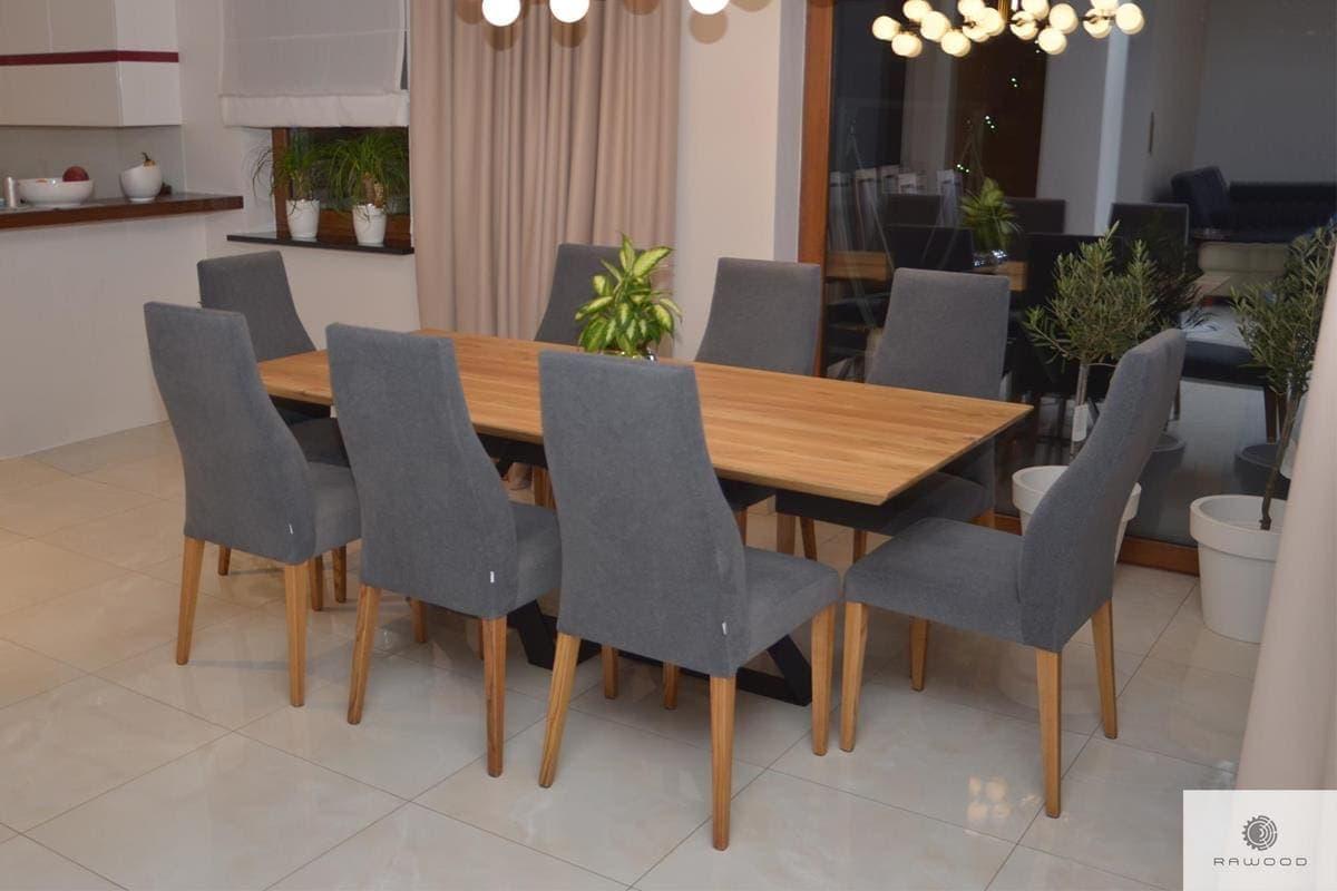 Industrielle Eiche Tisch auf Metallgestell ins Esszimmer BORNEO