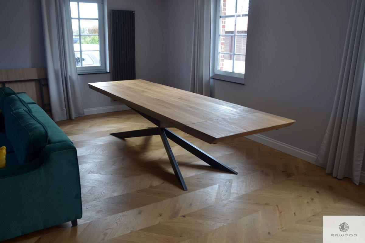 Industrielle Eiche Tisch mit Zusatzplatten auf Bestellung ins Esszimmer DEVON