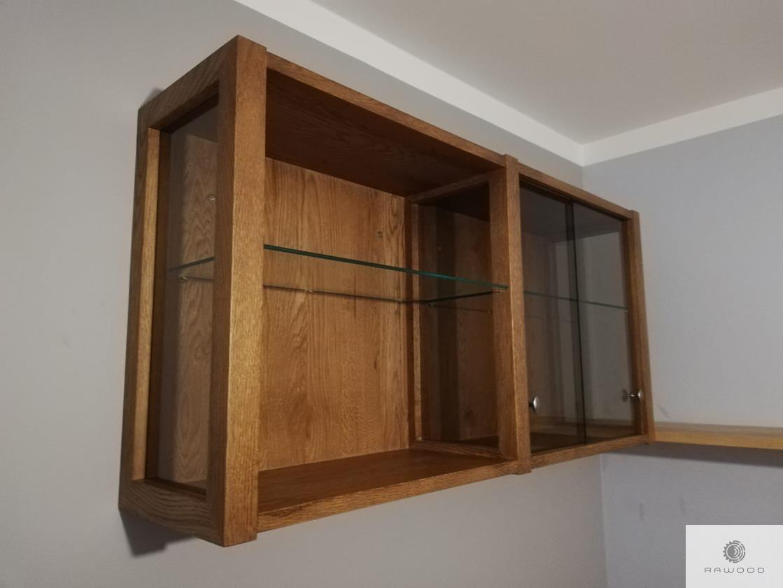Eiche Regale aus Massivholz und Glas ins Arbeitzimmer