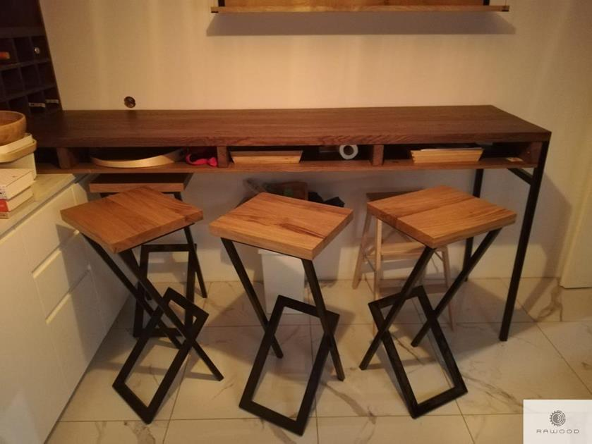Holz Barhocker für Küche Esszimmer HUGON