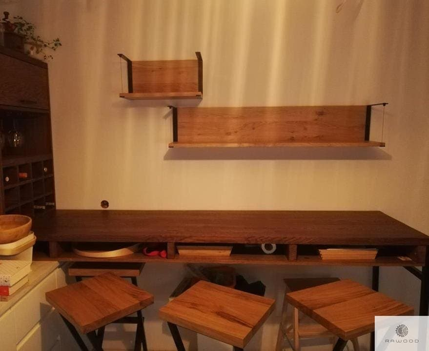 Barstuhl aus Masivholz und Stahl für Küche Esszimmer HUGON