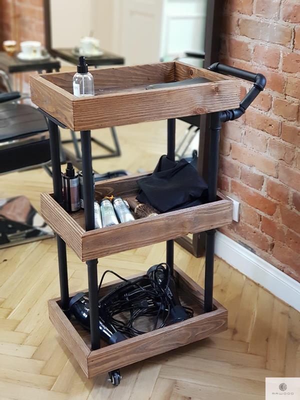 Beistelltisch Friseurwagen aus Massivholz