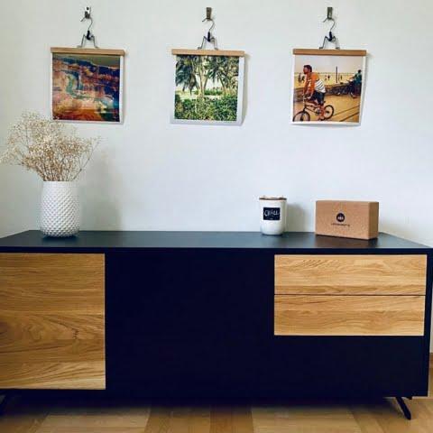 Modern Holz Fernsehschrank ins Wohnzimmer CARLA