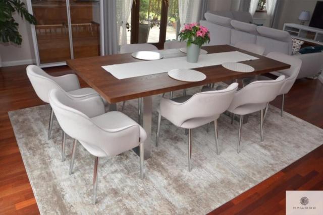 Modern Eiche Tisch mit Metallbeine ins Esszimmer MOCCA
