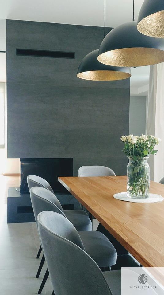 Eiche Tisch auf schwarze Metallgestell ins Esszimmer PHARELL