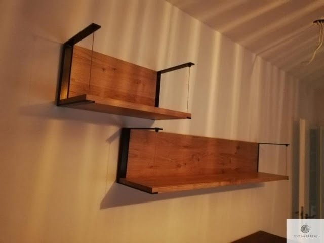 Eiche Regale aus Massivholz und Stahl ins Wohnzimmer