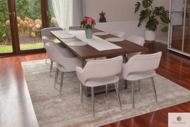 Industrielle Eiche Tisch auf Metallbeine auf Dimension ins Wohnzimmer MOCCA