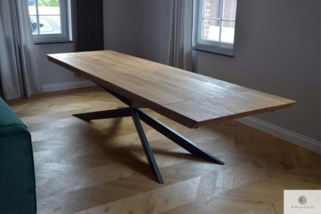 Eiche Tisch mit Metallbeine X ins Wohnzimmer DEVON