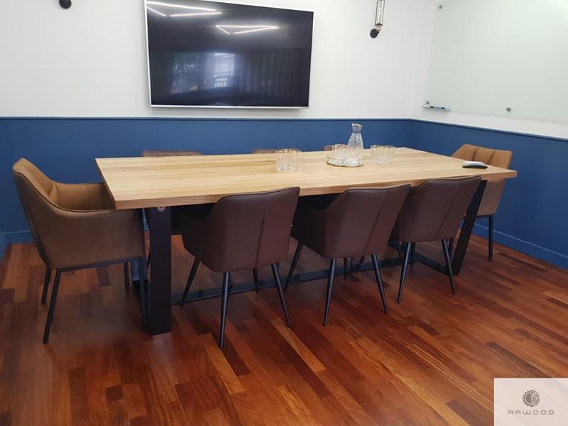Industrielle Eiche Tisch auf Metallbeine ins Esszimmer VICTORIA