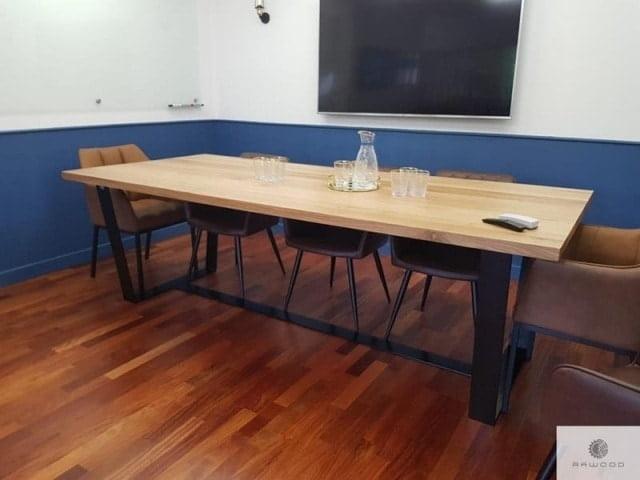Modern Eichenholztisch ins Esszimmer Wohnzimmer VICTORIA