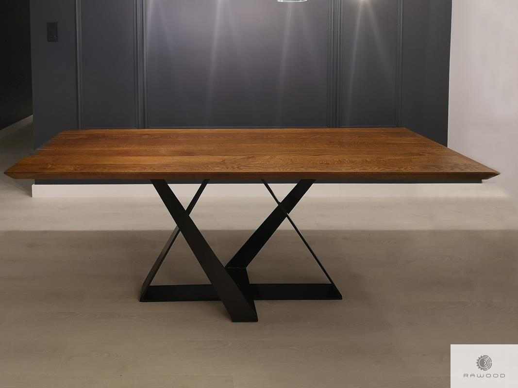 Tisch aus Eichenholz auf Metallgestell ins Esszimmer Wohnzimmer BORNEO