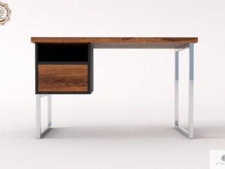 Biurko z drewnianym blatem do gabinetu kancelarii NESCA II Producent Mebli RaWood Premium Furniture