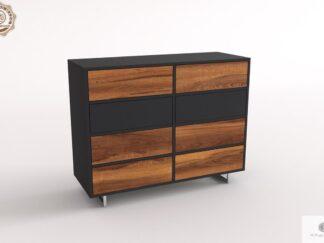 Elegante Kommode aus Massivholz ins Wohnzimmer NESCA II finden Sie uns auf https://www.facebook.com/RaWoodpl/