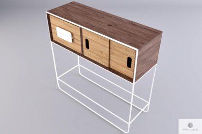 Holz Beistelltisch Konsolentisch aus Massivholz ins Wohnzimmer Diele DENIS find us on https://www.facebook.com/RaWoodpl/