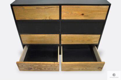 Holzkommode mit Schubladen ins Wohnzimmer NESCA II