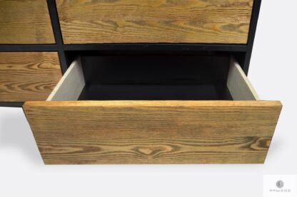 Modern elegant chest of drawers of wood with drawers NESCA II
