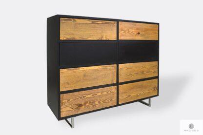 Industrielle Holzkommode mit Schubladen ins Schlafzimmer NESCA II