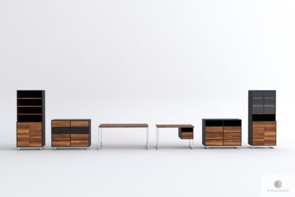 Schreibtisch aus altem Holz ins Büro Kanzlei NESCA II Mobelhersteler RaWood Premium Mobel