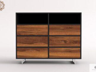 Komoda z drewna litego z szufladami nowoczesna do salonu NESCA II Producent Mebli RaWood Premium Furniture