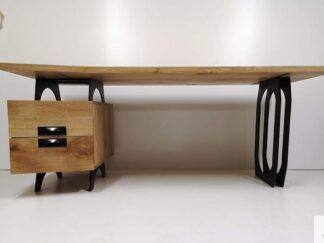 Eiche Schreibtisch mit Metallbeinen für Büro WALT Möbelhersteller RaWood Premium Möbel