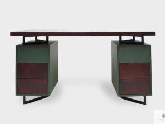 Schreibtisch aus Massiveichenholz ins Büro Kanzlei NORD