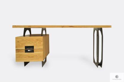 Eiche Schreibtisch mit Metallbeinen ins Büro WALT