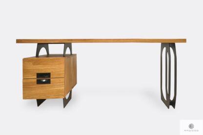 Eiche Schreibtisch mit Metallbeinen für Büro WALT