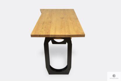 Schreibtisch aus Massivholz schwarzer Stahl für Büro WALT