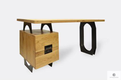 Industrielle Holz Schreibtisch mit Schubladen für Büro WALT