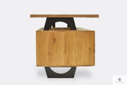 Holzschreibtisch mit Container und Schubladen für Büro WALT
