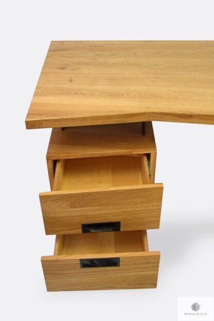 Industrielle Holzschreibtisch mit Schubladen ins Arbeitzimmer WALT