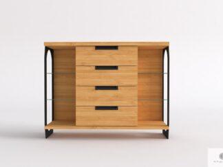 Komoda dębowa z szufladami z drewna litego do salonu WALT