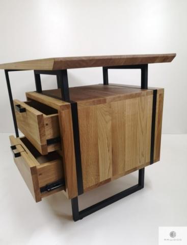 Schreibtisch aus Eichenholz ins Arbeitzimmer Kanzlei HUGON finden Sie uns auf https://www.facebook.com/RaWoodpl/
