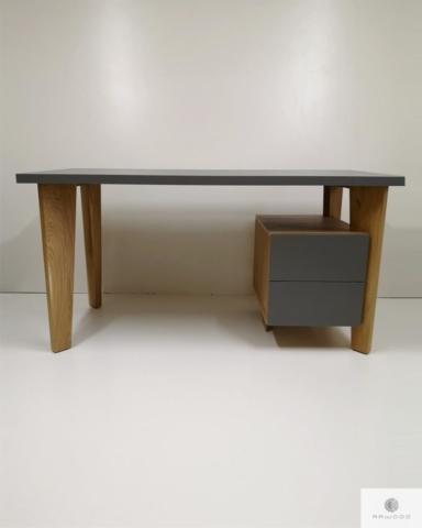 Designer Schreibtisch mit Holzbeinen und Schrank ins Arbeitzimmer GRAND finden Sie uns auf https://www.facebook.com/RaWoodpl/