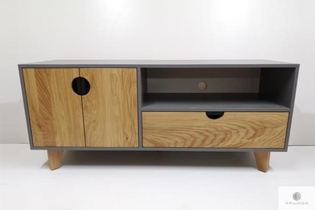 Elegantes Fernsehschrank aus Holz und laminierten Platten ins Wohnzimmer GRAND finden Sie uns auf https://www.facebook.com/RaWoodpl/