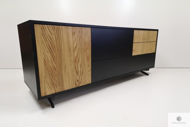 Moderne hölzerne TV Schrank ins Wohnzimmer CARLA finden Sie uns auf https://www.facebook.com/RaWoodpl/