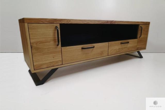 TV Schrank aus Massiveichenholz und Stahl ins Wohnzimmer finden Sie uns auf https://www.facebook.com/RaWoodpl/