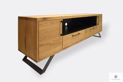 Eiche industrielle Fernsehschrank aus Holz uns Stahl JORGEN