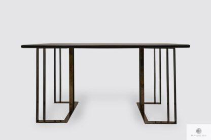 Tisch aus Eichenholz auf Metallbeinen ins Esszimmer Wohnzimmer MERIDIAN