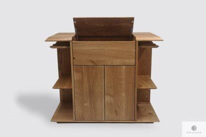 Eiche Barschrank für Alkohol und Gläser ins Esszimmer Wohnzimmer CARMEN I Möbelhersteller RaWood Premium Möbel