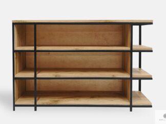 Eiche Bücherregal aus Massivholz ins Büro Wohnzimmer HUGON