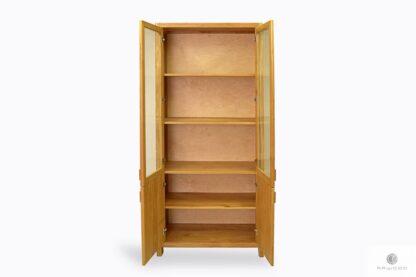 Eichenvitrine für Bücher aus Massivholz ins Wohnzimmer Büro DAVOS Möbelhersteller RaWood Premium Möbel