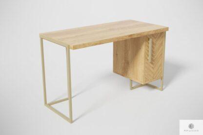 Modern Schreibtisch aus Massiveichenholz ins Büro CARIN Möbelhersteller RaWood Premium Möbel