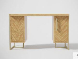 Eiche Schreibtisch aus Holz und Stahl ins Büro CARIN I