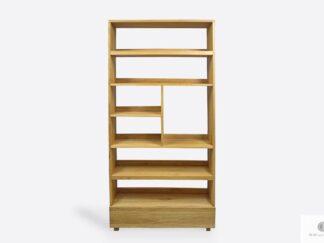 Eiche Bücherregal aus Massivholz zum Büro Wohnzimmer DAVOS