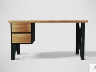 Modern Eiche Schreibtisch auf Metallbeinen zum Büro GORAN